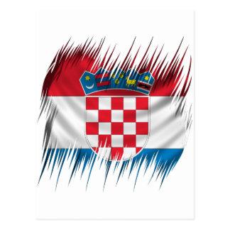 Bandera del croata de las trituradoras postal