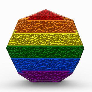 Bandera del cromo del orgullo gay