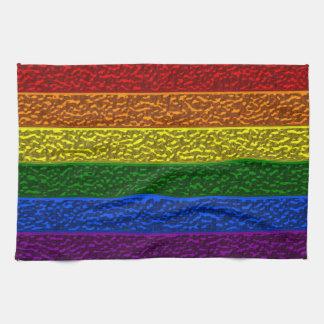 Bandera del cromo del orgullo gay toalla