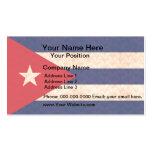 Bandera del cubano del modelo del vintage tarjetas de visita