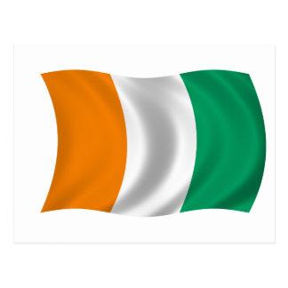 Bandera del d Ivoire de Cote - Costa de Marfil Postal