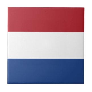 Bandera del de los Países Bajos Azulejo Cuadrado Pequeño