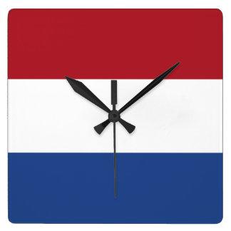 Bandera del de los Países Bajos Reloj