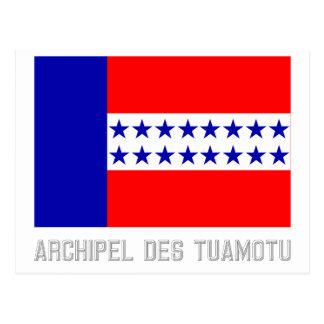 Bandera del DES Tuamotu de Archipel con nombre Postal