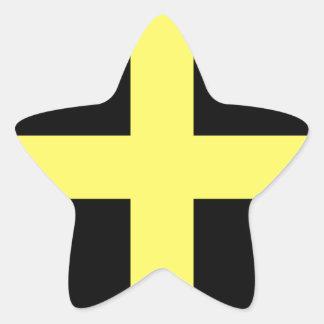 Bandera del día de St David Pegatina En Forma De Estrella