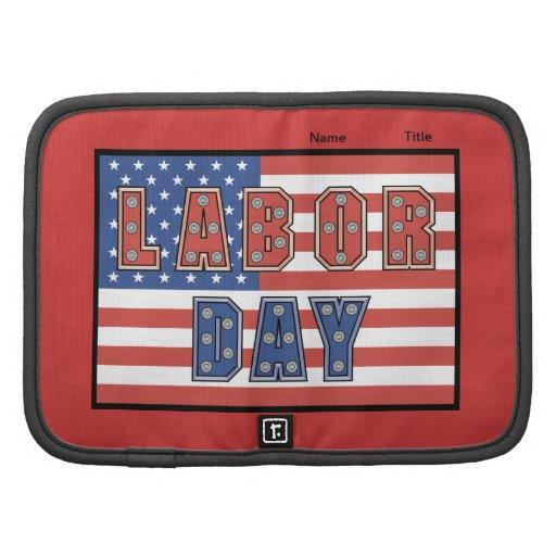 Bandera del Día del Trabajo - Planificador