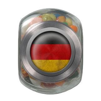 Bandera del disco de Alemania Frascos De Cristal