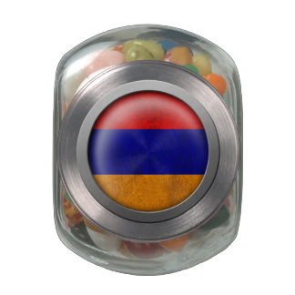 Bandera del disco de Armenia Frascos De Cristal