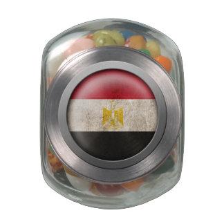 Bandera del disco de Egipto Jarras De Cristal