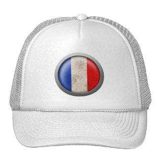 Bandera del disco de Francia Gorro De Camionero