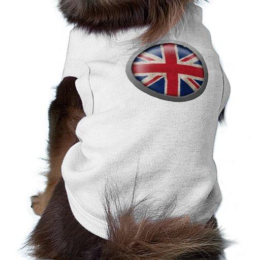 Bandera del disco de Gran Bretaña Ropa De Mascota
