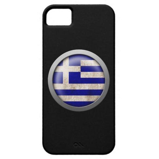 Bandera del disco de Grecia iPhone 5 Fundas