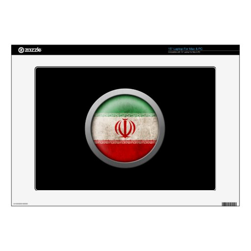 Bandera del disco de Irán Skins Para Portátil