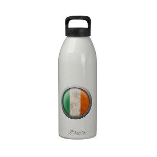 Bandera del disco de Irlanda Botellas De Agua Reutilizables