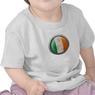 Bandera del disco de Irlanda Camisetas
