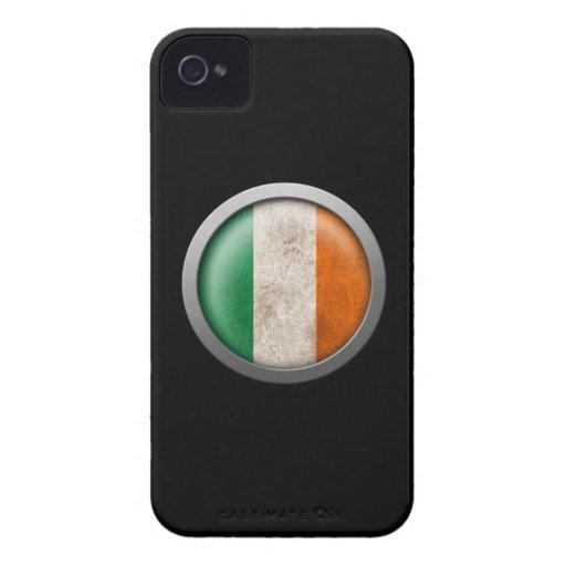 Bandera del disco de Irlanda Case-Mate iPhone 4 Fundas