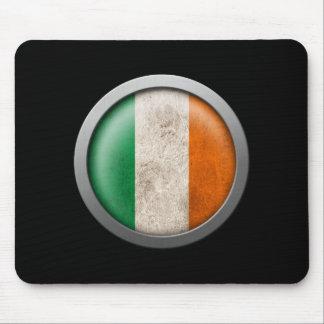 Bandera del disco de Irlanda Mousepad