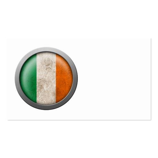 Bandera del disco de Irlanda Tarjetas De Visita