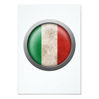 """Bandera del disco de Italia Invitación 3.5"""" X 5"""""""