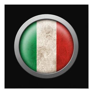 """Bandera del disco de Italia Invitación 5.25"""" X 5.25"""""""