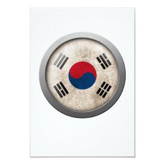 """Bandera del disco de la Corea del Sur Invitación 3.5"""" X 5"""""""