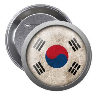 Bandera del disco de la Corea del Sur Pin