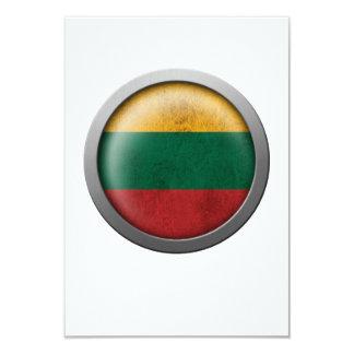 Bandera del disco de Lituania Invitación 8,9 X 12,7 Cm