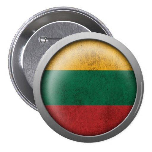 Bandera del disco de Lituania Pins