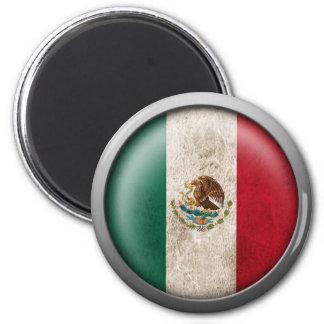 Bandera del disco de México Imán Redondo 5 Cm