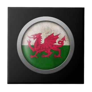 Bandera del disco de País de Gales Azulejo