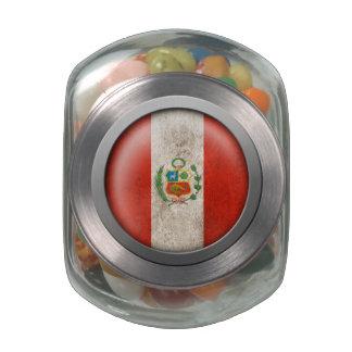 Bandera del disco de Perú Jarras De Cristal