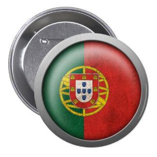 Bandera del disco de Portugal Pins