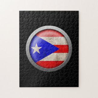 Bandera del disco de Puerto Rico Puzzles Con Fotos