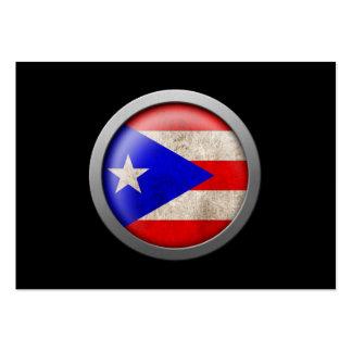 Bandera del disco de Puerto Rico Tarjetas De Visita Grandes