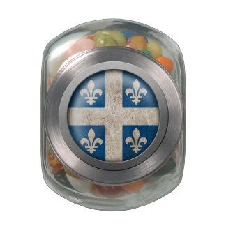 Bandera del disco de Quebec Jarrones Cristal