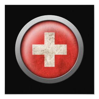 Bandera del disco de Suiza Comunicados Personalizados