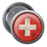 Bandera del disco de Suiza Pin