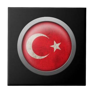 Bandera del disco de Turquía Teja Cerámica