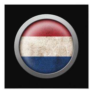 """Bandera del disco holandés invitación 5.25"""" x 5.25"""""""
