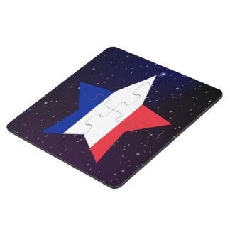 Bandera del diseño de la estrella de Francia Posavasos De Puzzle