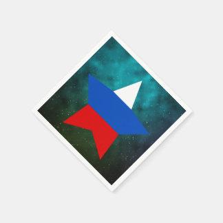 Bandera del diseño de la estrella de Rusia Servilleta De Papel