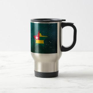 Bandera del diseño de la estrella de Togo Taza Térmica