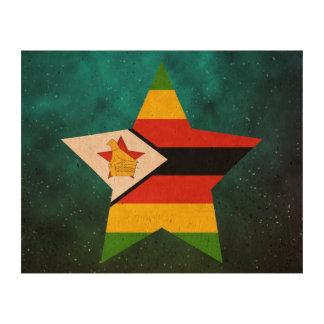 Bandera del diseño de la estrella de Zimbabwe Papel De Corcho Para Fotos