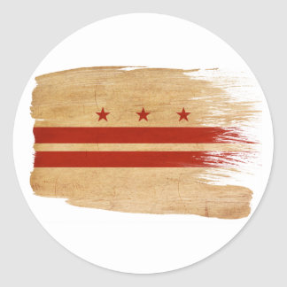 Bandera del distrito de Columbia Pegatina Redonda