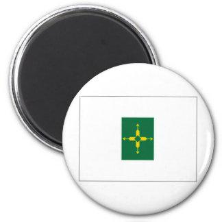 Bandera del distrito federal del Brasil Imán Para Frigorífico