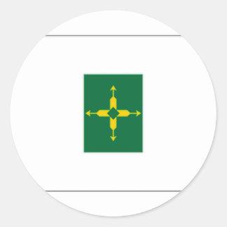 Bandera del distrito federal del Brasil Etiquetas Redondas