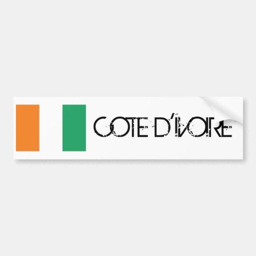 Bandera del d'Ivoire de Cote Pegatina Para Auto