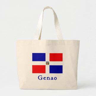Bandera del Dominican de Genao Bolsa Tela Grande