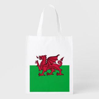 Bandera del dragón de País de Gales Galés Bolsas Para La Compra