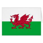 Bandera del dragón Galés Tarjeta Pequeña